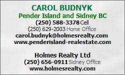 Pender Island Realtor Carol Budnyk